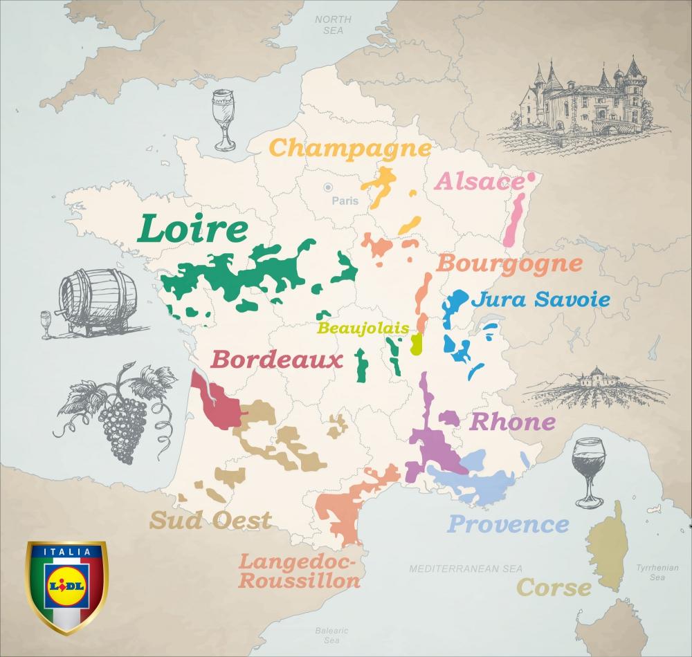 Cartina Vini Francia.Lidl Presenta I Vini Francesi Gdoweek