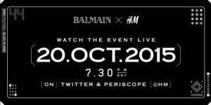 Balmain x H&M promo