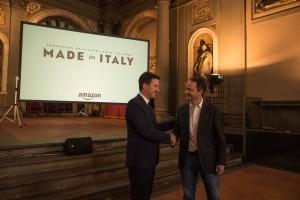 Dario Nardella, Sindaco di Firenze e Francois Nuyts, Country Manager di Amazon Italia e Spagna durante la conferenza