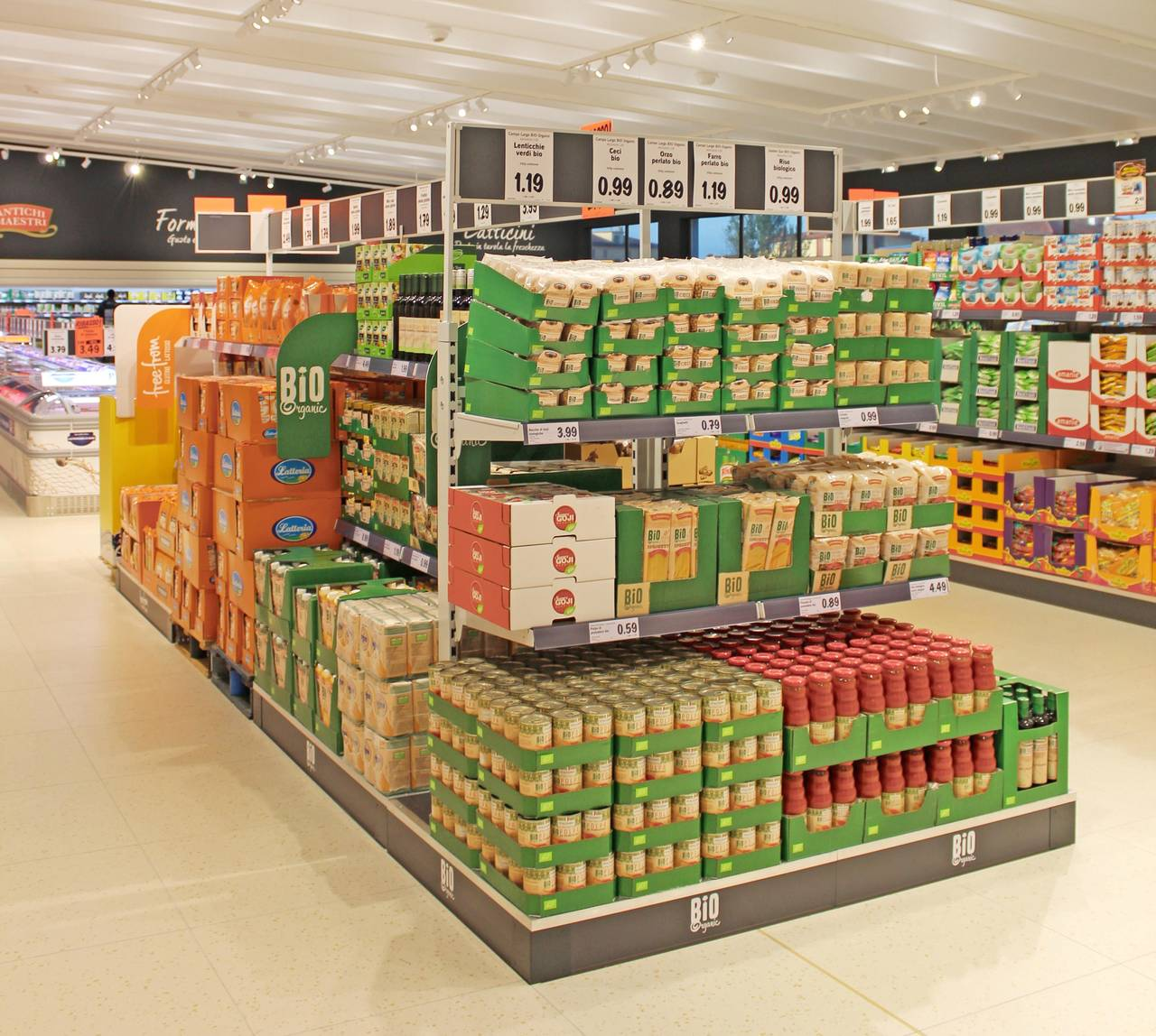 LIDL_Bio e Free from isola