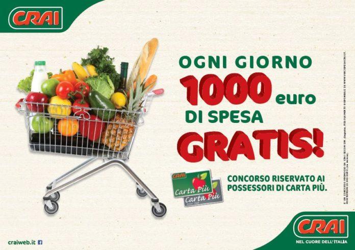 1000 euro spesa gratis Crai
