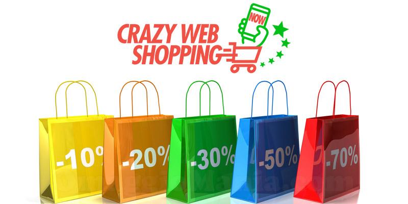 Crazy Web Shopping, fino a domani tante offerte per lo shopping on-line