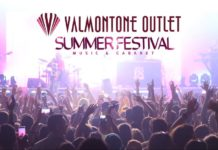 Il cartellone del Valmontone Outlet Summer Festival dalla pagina facebook dell'outlet