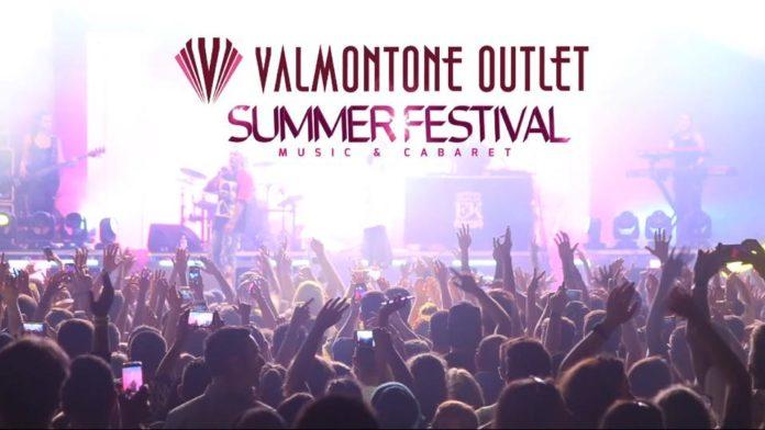 Il cartellone del Valmontone Outlet Summer Festival dalla pagina facebook dell'outlet