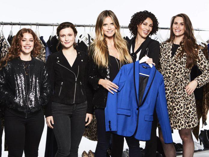 Heidi Klum con le modelle per la collezione Esmara by Heidi Klum per Lidl