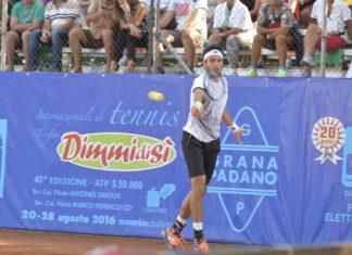 Leonardo Mayer, uno dei campioni del Trofeo di tennis DimmidiSì di Manerbio