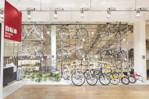 Ristrutturazione Muji a Tokyo, la vendita biciclette