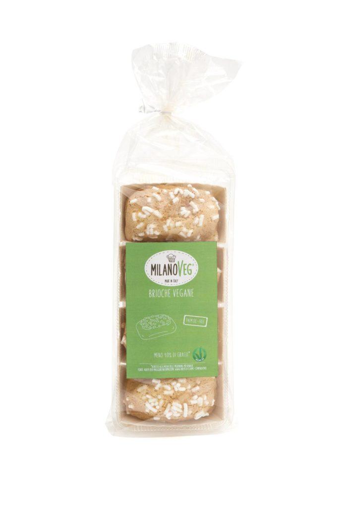 Brioche vegane con granella di zucchero per la colazione vegana MilanoVeg
