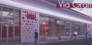 Il centro commerciale Coop a Parma, un rendering