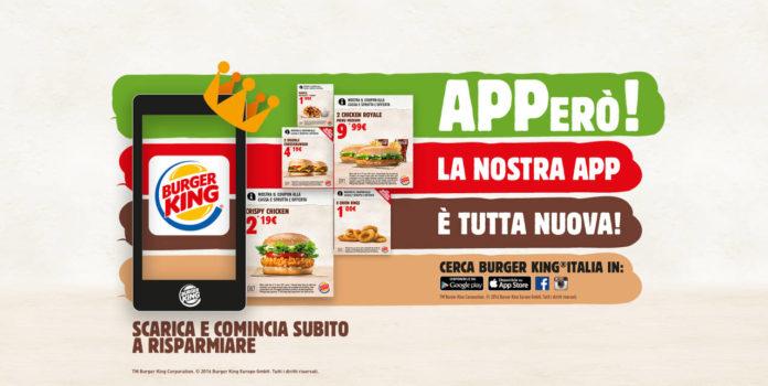 Burger King a Peschiera Borromeo (Mi), la nuova app con le offerte