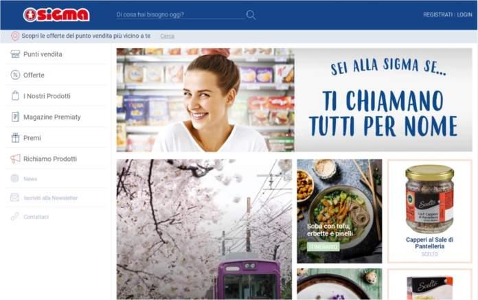 sigma homepage nuovo sito