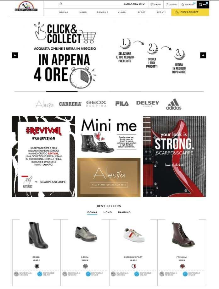 click&collect scarpe&Scarpe