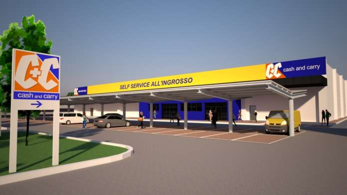 Rendering C+C cash and carry Bologna