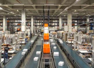 Il magazzino logistico Zalando a Erfurt in Turingia