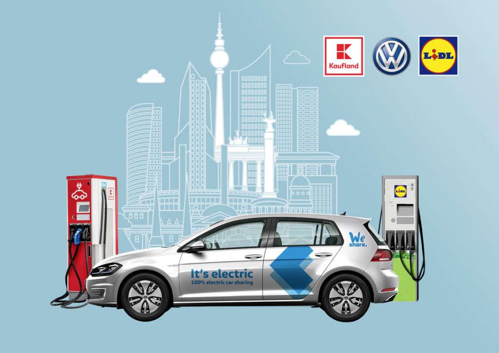 Volkswagen e Lidl in partnership per le colonnine di ricarica di auto elettriche