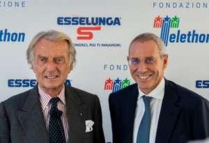 Luca di Montezemolo, presidente Fondazione Telethon, e Sami Kahale ,direttore generale di Esselunga
