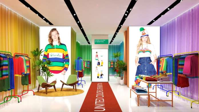 Pop Up store_Santa Monica united colors of Benetton