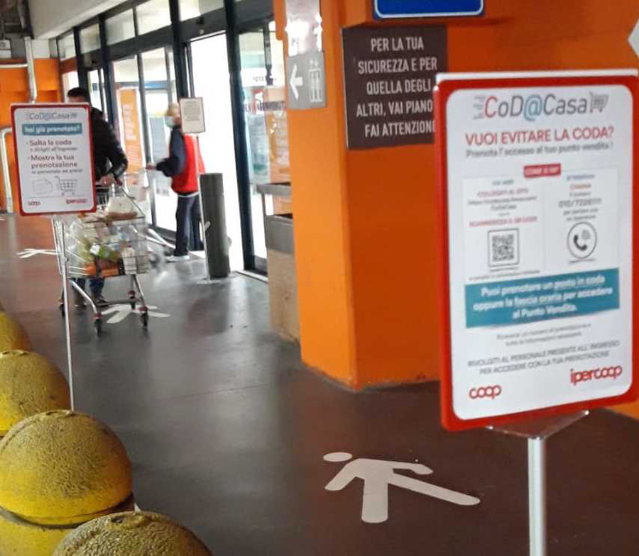 In Coop Liguria e Lombardia si può prenotare l'ingresso allo store