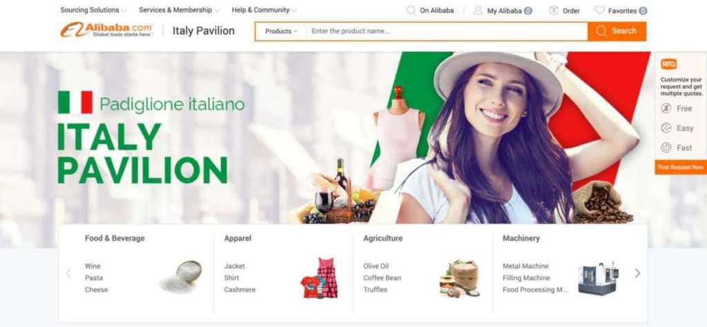 Il marketplace b2b di Alibaba.com