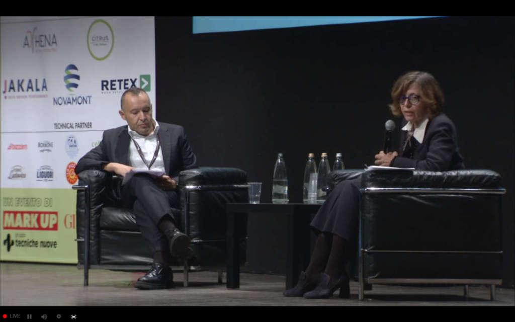 Paola Accornero, direttrice risorse umane Carrefour Italia e Andrea Notarnicola, Partner Newton