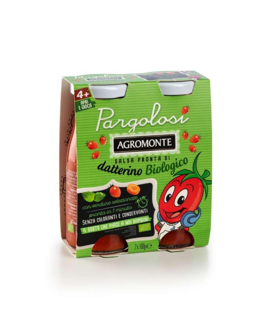 Agromonte lancia Pargolosi: la salsa di datterino bio per i bambini