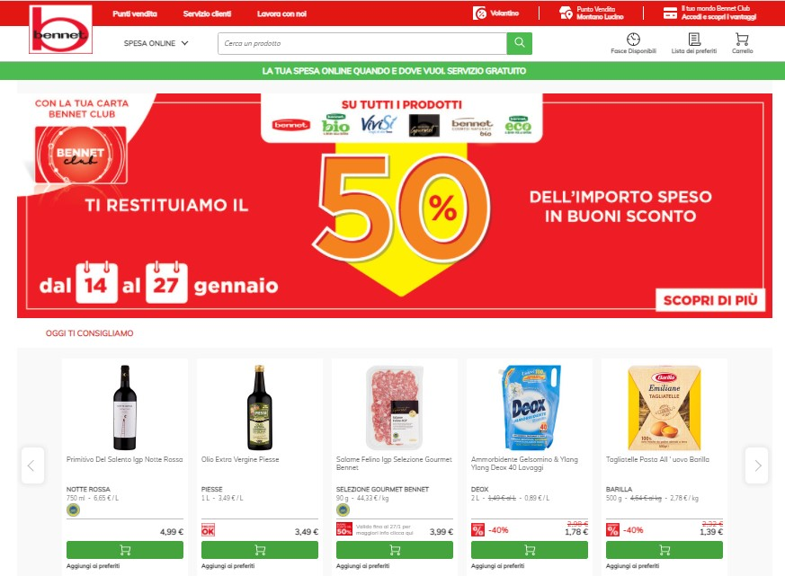 Il nuovo eCommerce di Bennet su Sap Commerce Cloud