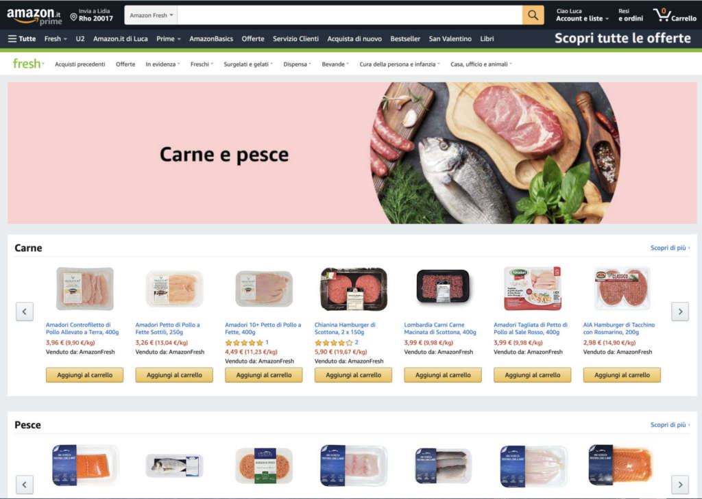 Amazon Fresh disponibile a Milano, rinnovata l'esperienza d'acquisto di Prime Now
