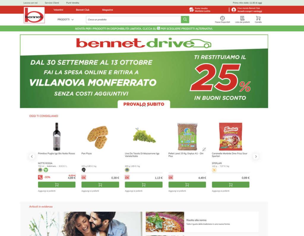 Il nuovo sito eCommerce di Bennet, un tassello dell'omnicanalità