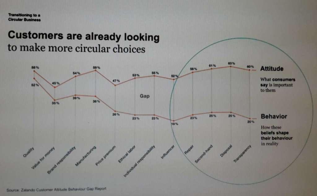 Dati sui consumatori secondo lo Zalando customer attitude behaviour gap report